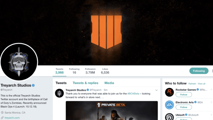 Treyarch actualiza todos sus perfiles en las redes sociales del CoD con un nuevo logotipo