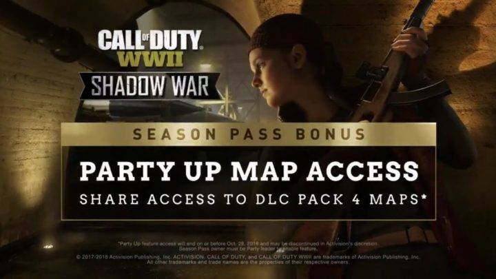 Nueva funcion de acceso al mapa ( Party up ) en WWII