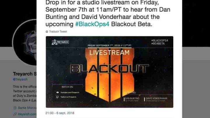 Treyarch Studios realizará una presentación de Blackout